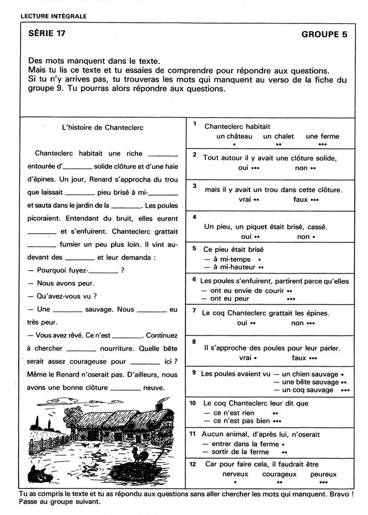 Lx 44 Comprehension Du Texte Lu 8 10 Ans